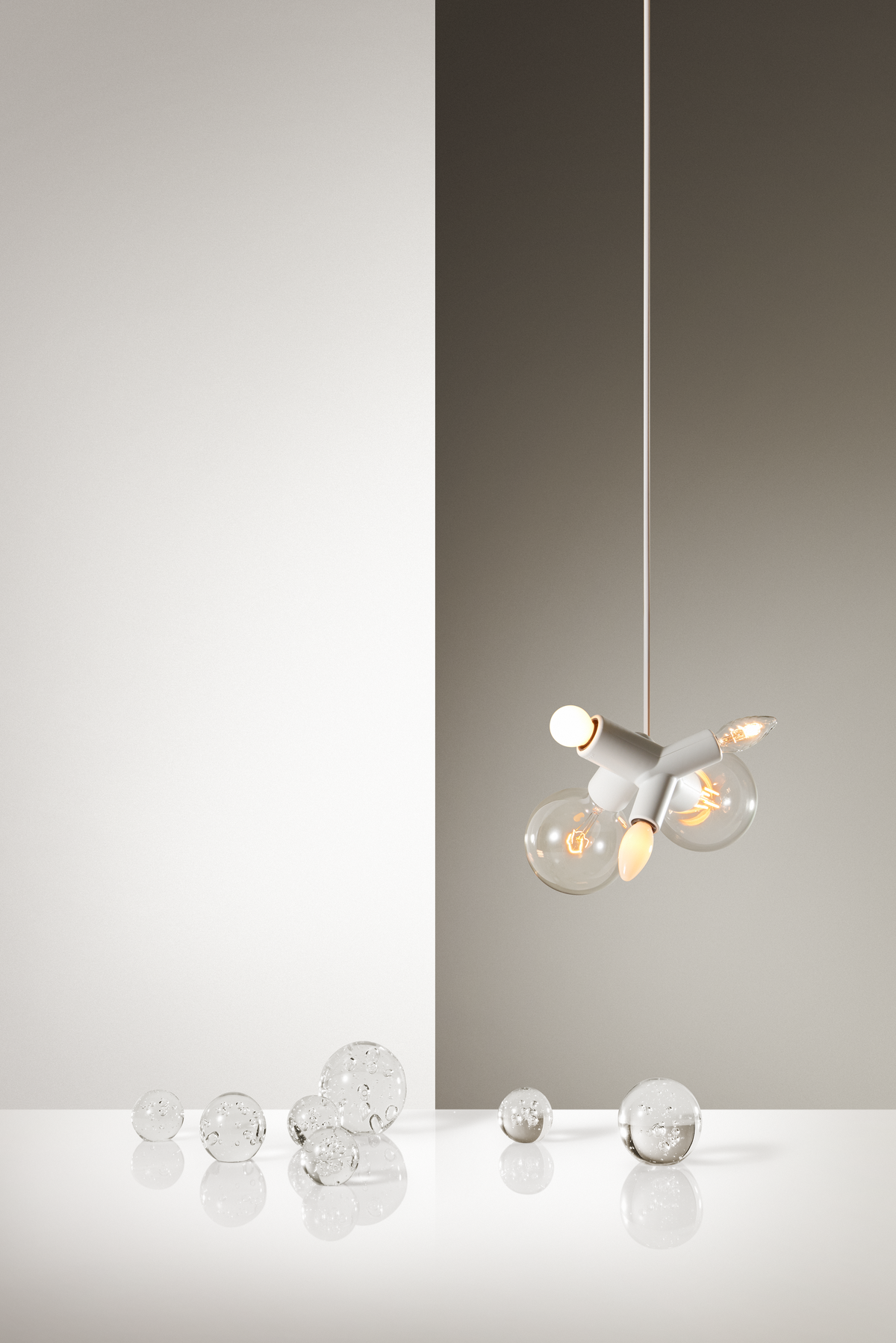 Poetic composition Clusterlamp suspension