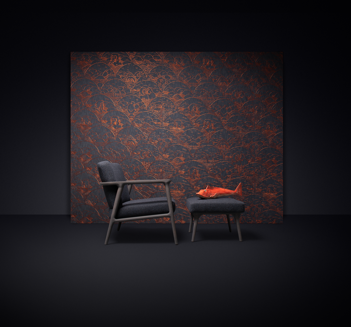 Poetic composition with Zio Lounge Chair and Zio Footstool