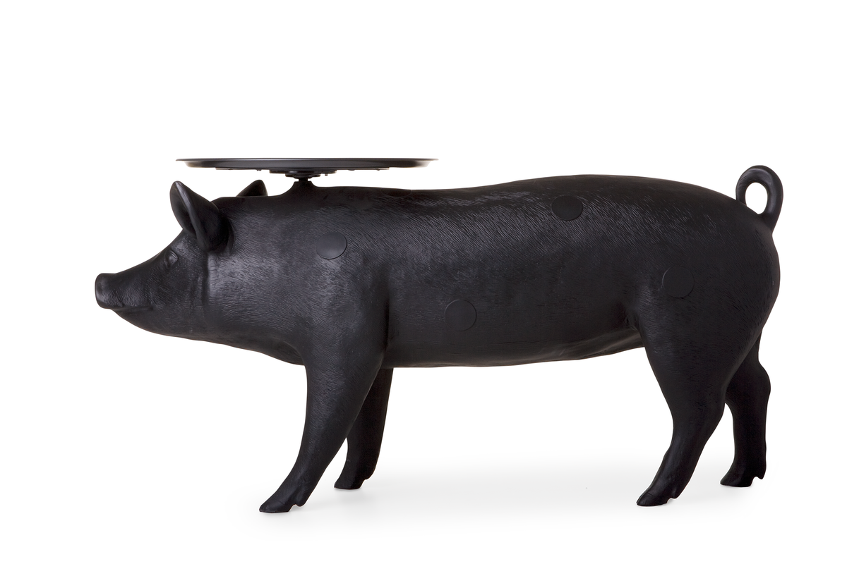 pig table side view
