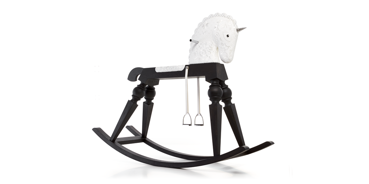 Arion rocking horse side view