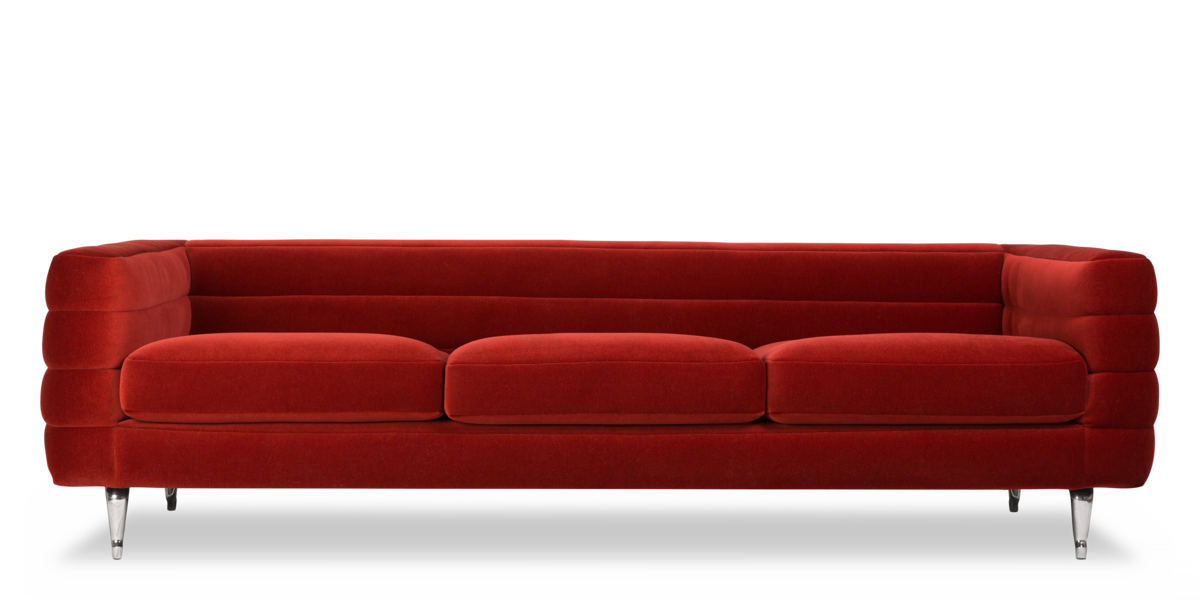 Boutique Botero Triple Seater sofa red front view