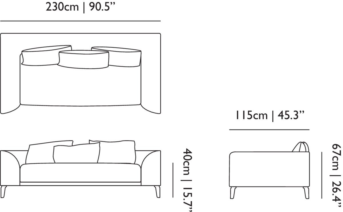 Linedrawing Canvas 230 Sofa