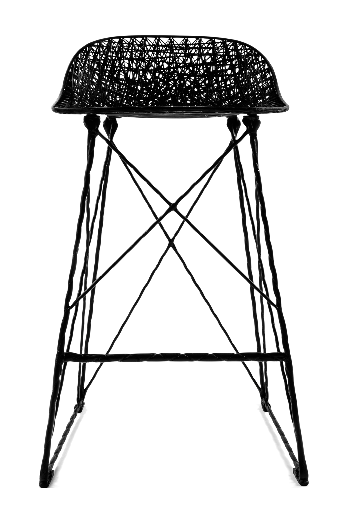 Carbon Bar Stool Low front side
