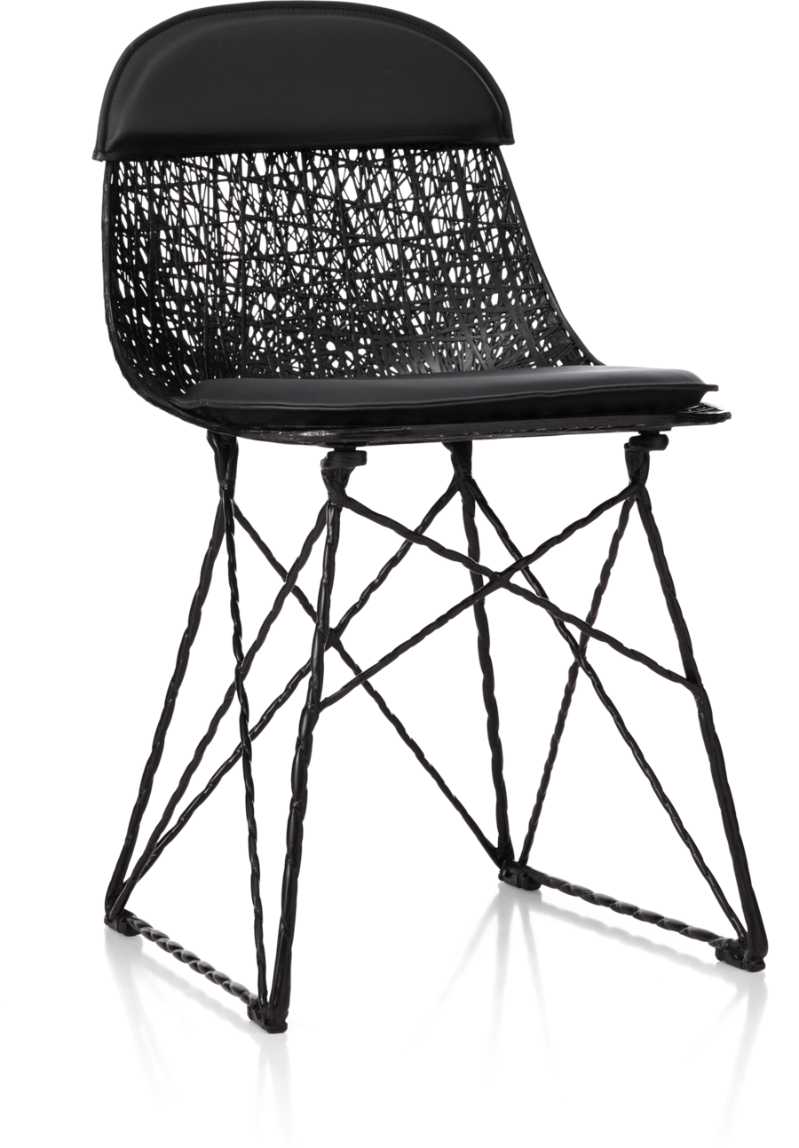 Carbon Chair with pad and cap front view