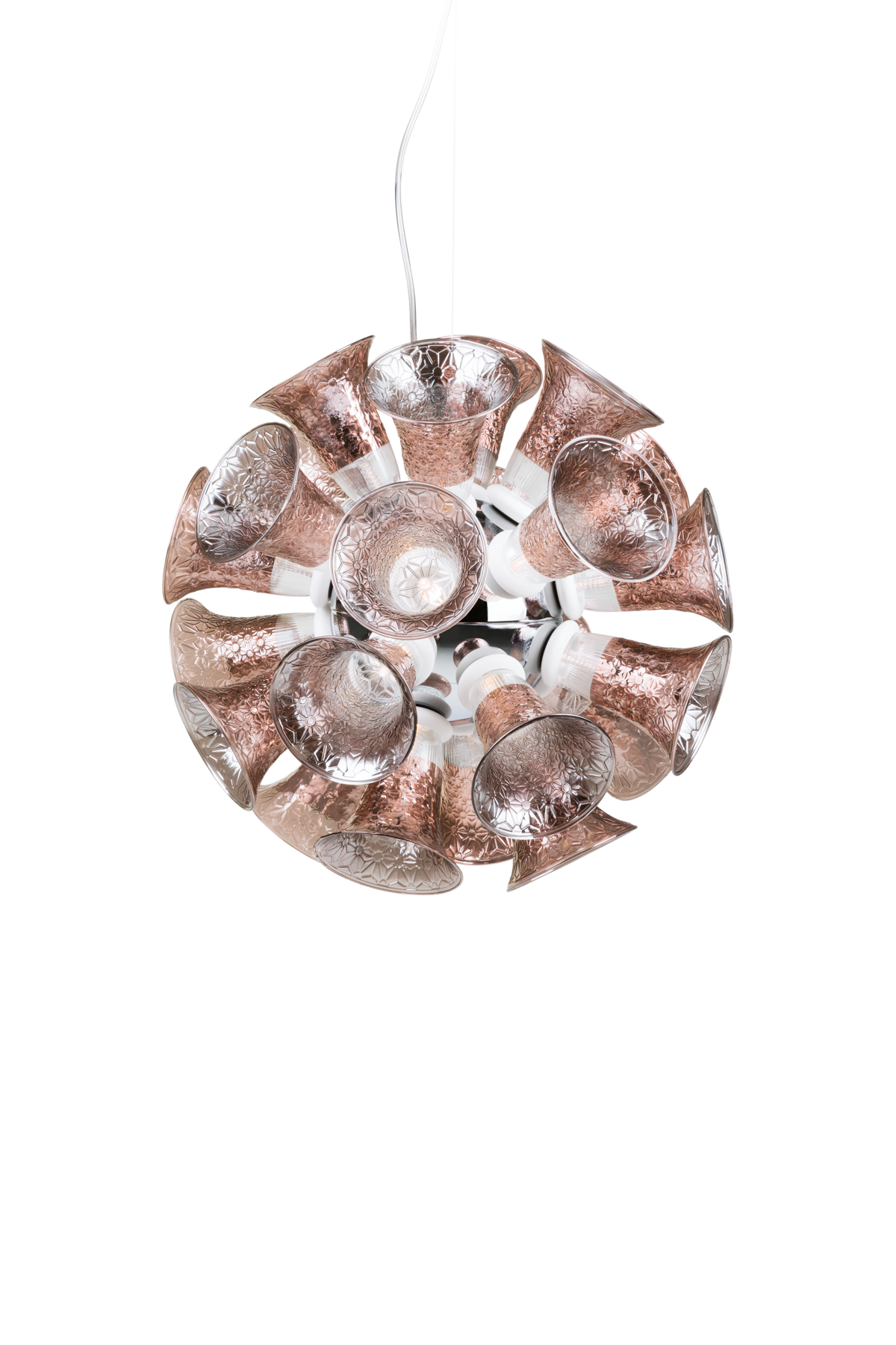 Chalice 24 Chrome suspension light front view