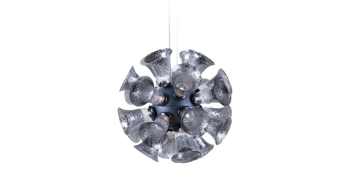 Chalice 24 Metallic Grey suspension light front view