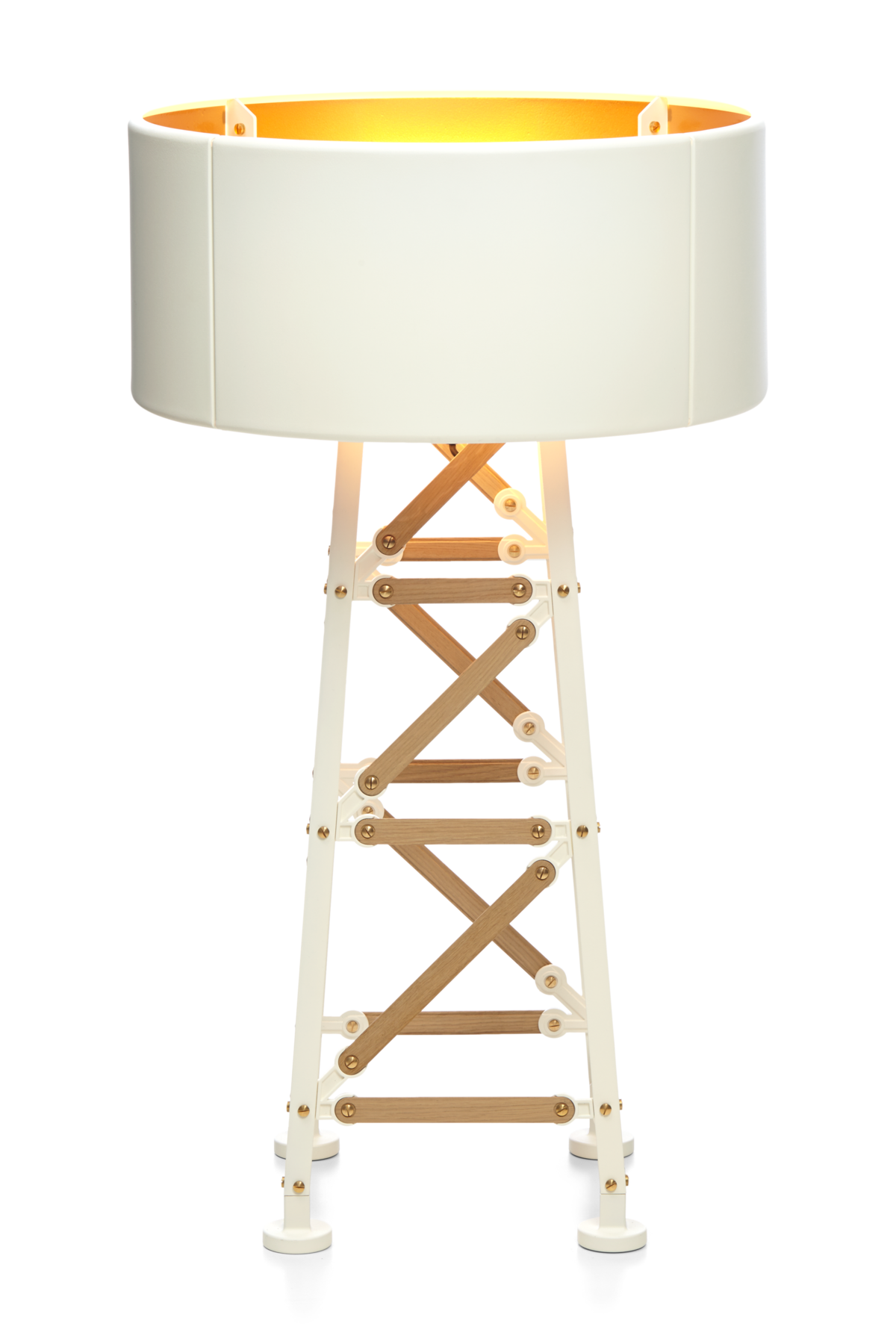 Frontview of The Moooi Construction Lamp in the small size and in the colour white.