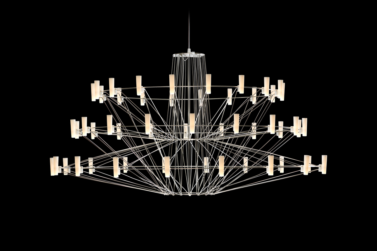 Coppelia suspension light on with black background