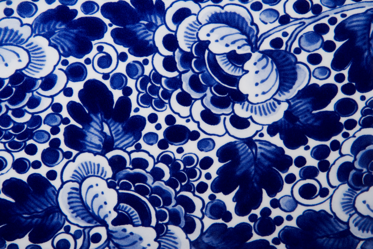 Delft Blue Vase detail