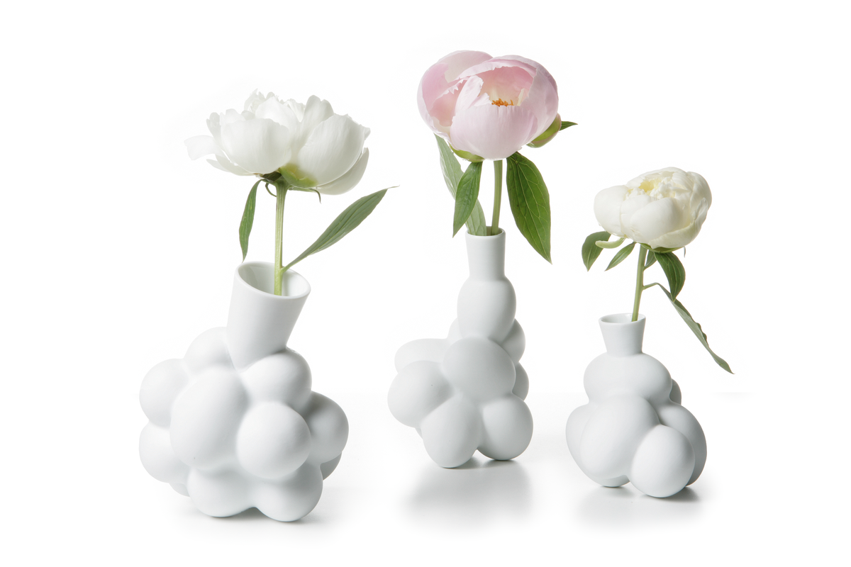 Egg Vase three sizes with flowers