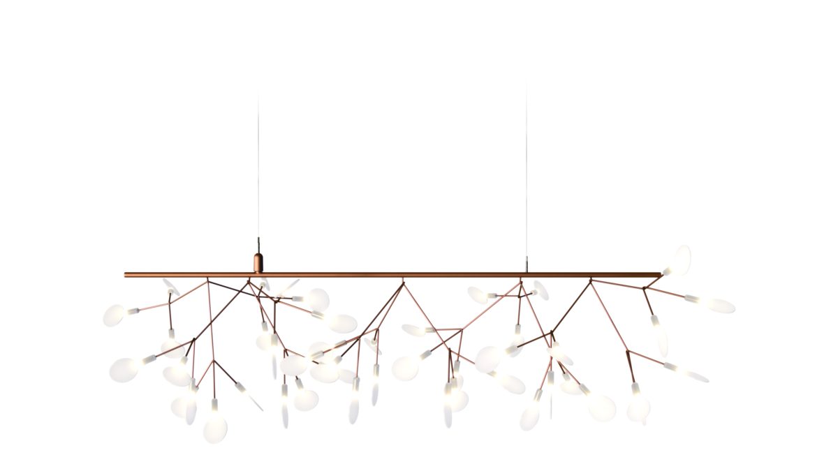 Heracleum Endless suspension light Copper single branch with canopy
