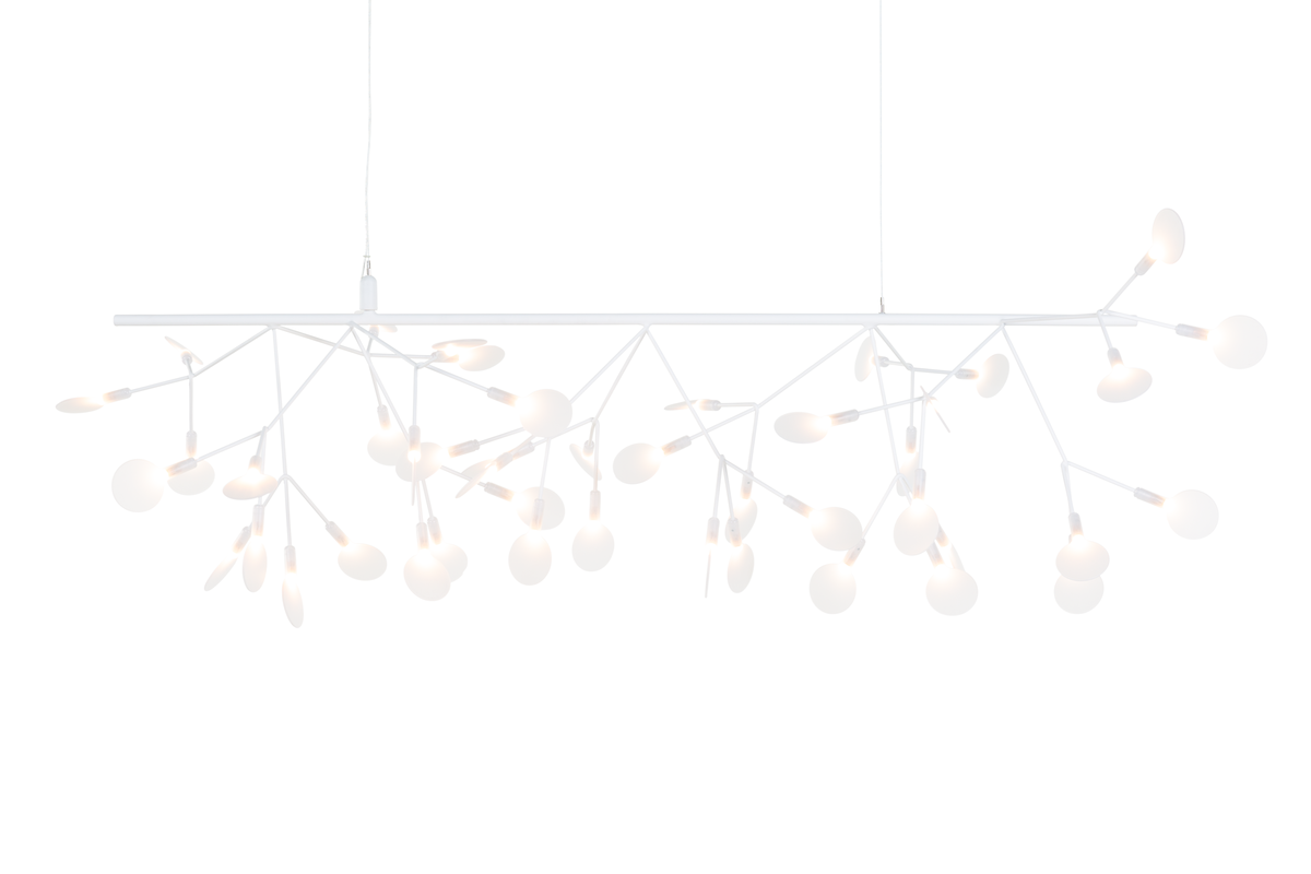 Heracleum Endless suspension light white on black background