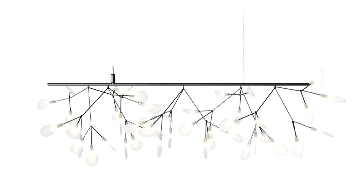 Heracleum Endless suspension light Nickel single branch