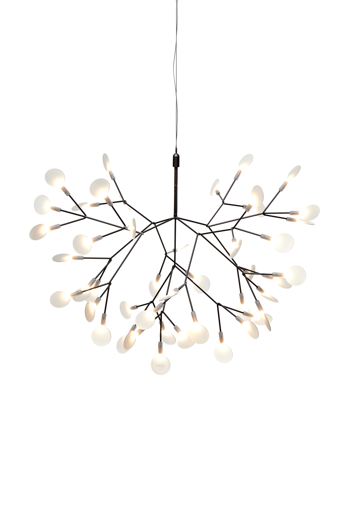 Heracleum II Small suspension light Nickel front side