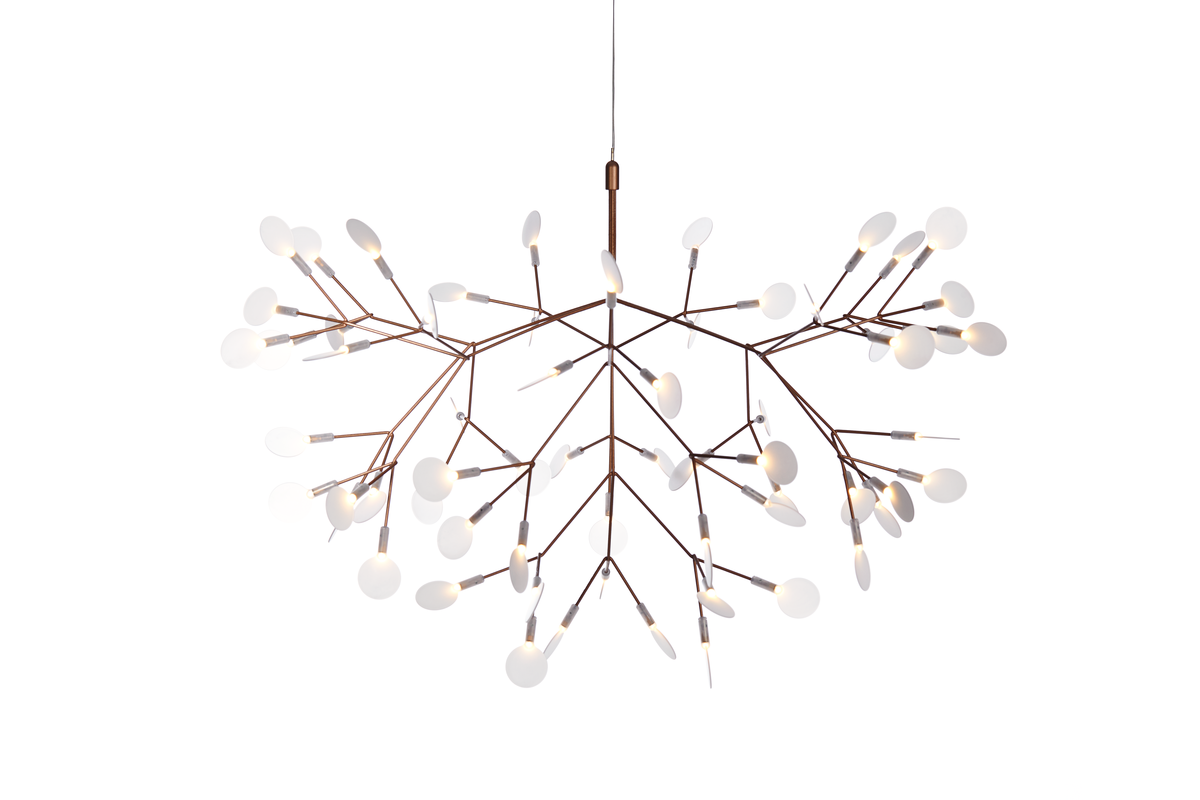 Heracleum II suspension light Copper front side 1