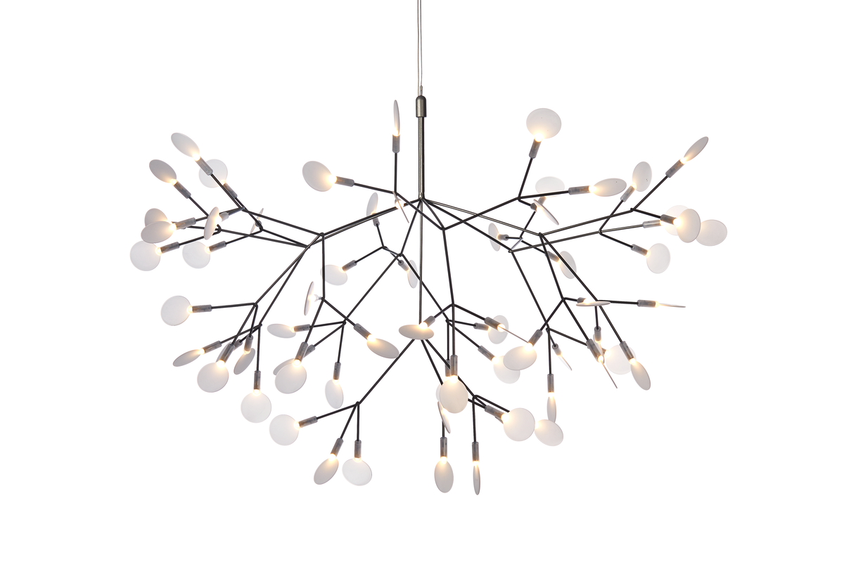 Heracleum suspension light Nickel front side 1