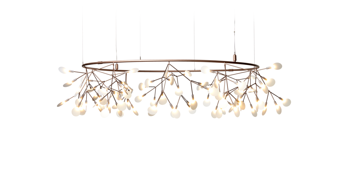 Heracleum The Small Big O suspension light Copper front view
