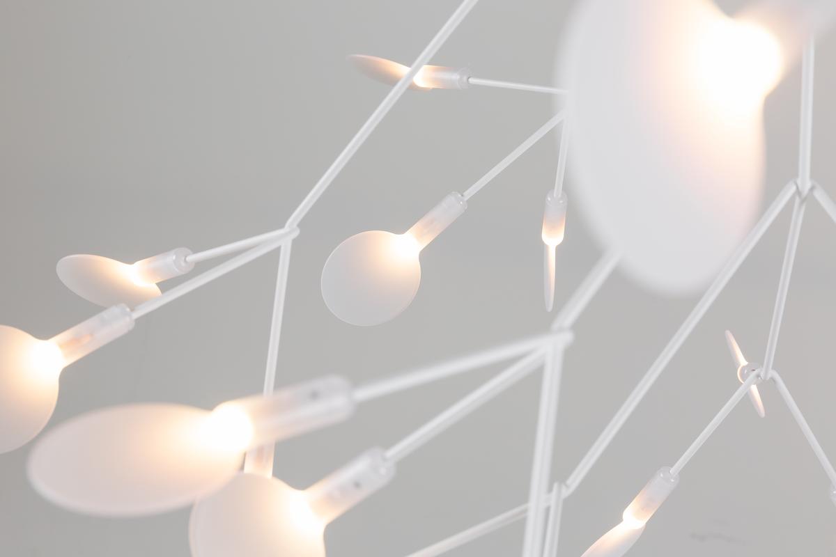 Heracleum II suspension light white on grey background detail 1