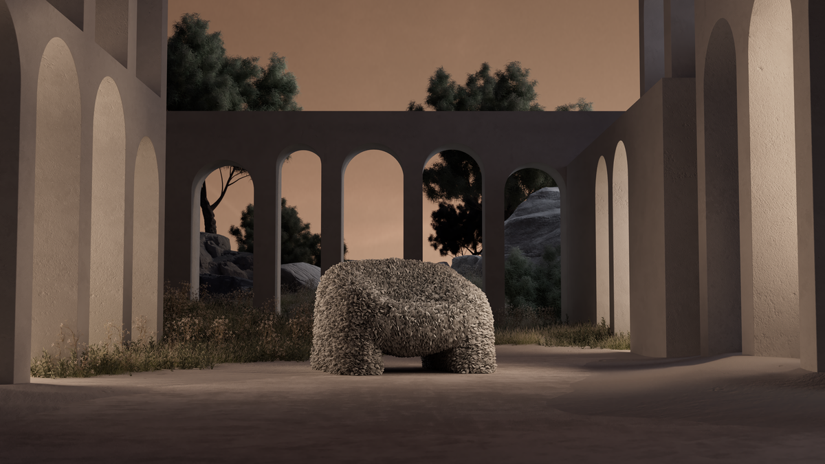 Hortensia Armchair with night background