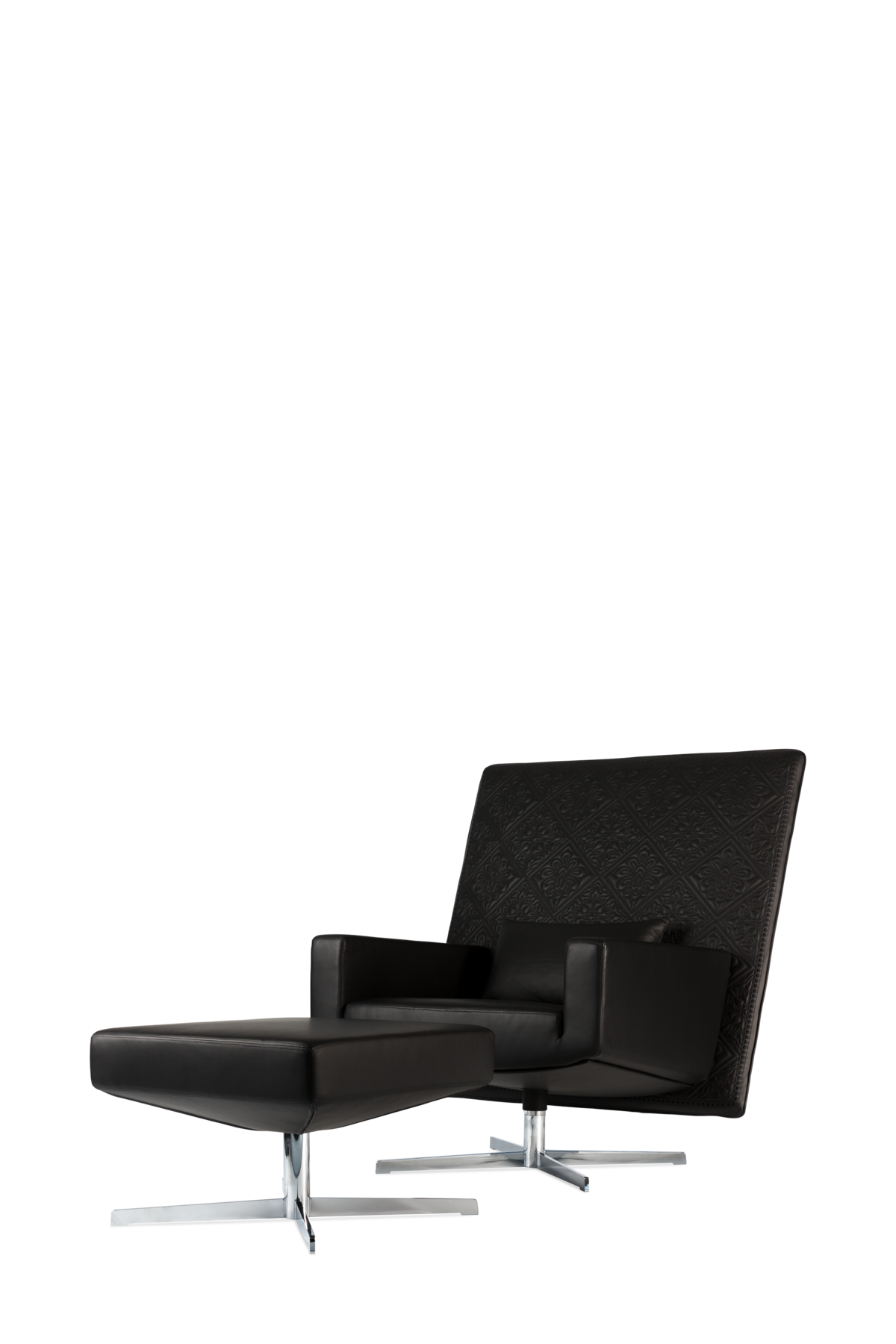 Jackson Chair black leather with front front view