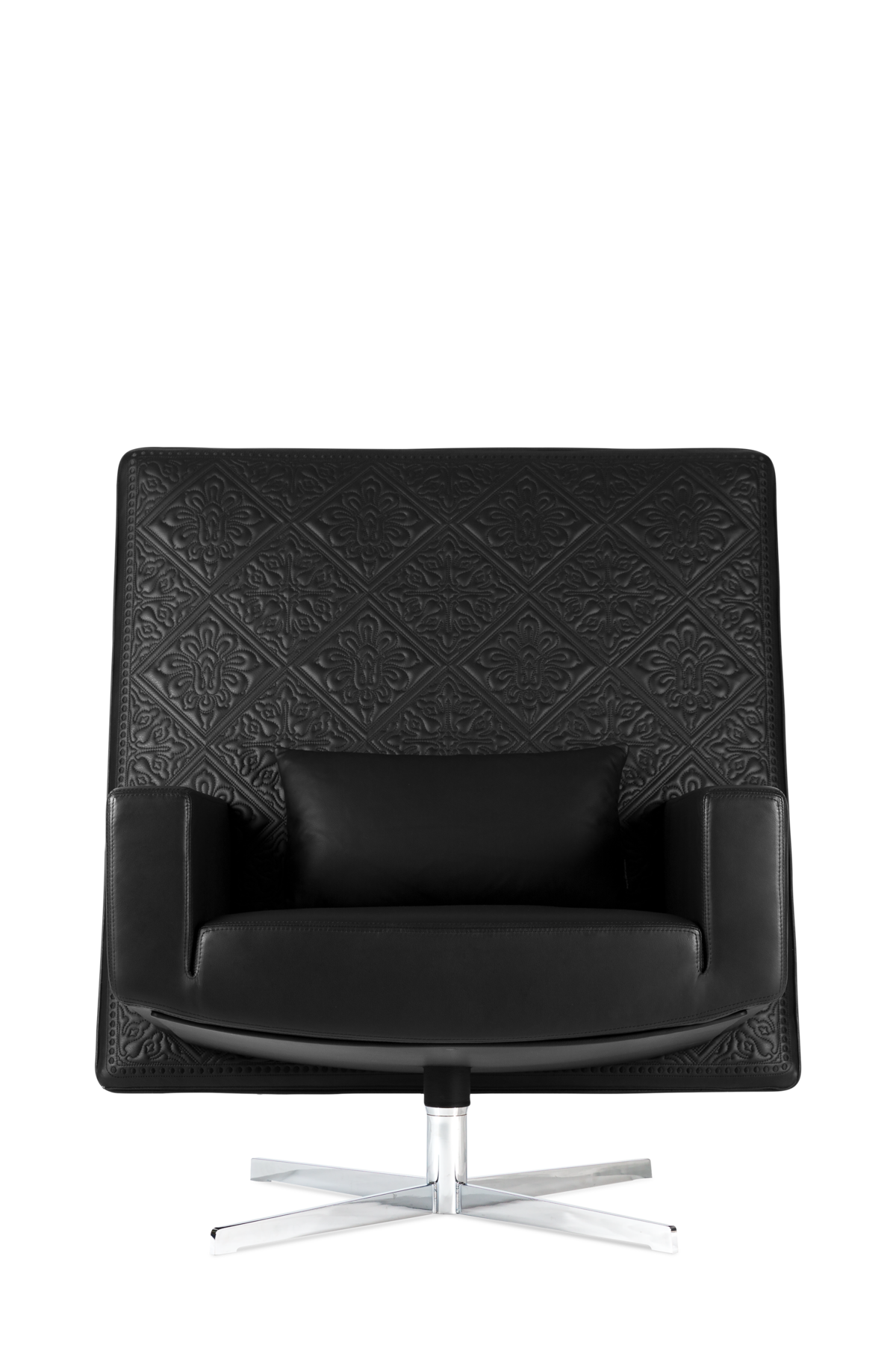 Jackson Chair black leather front side