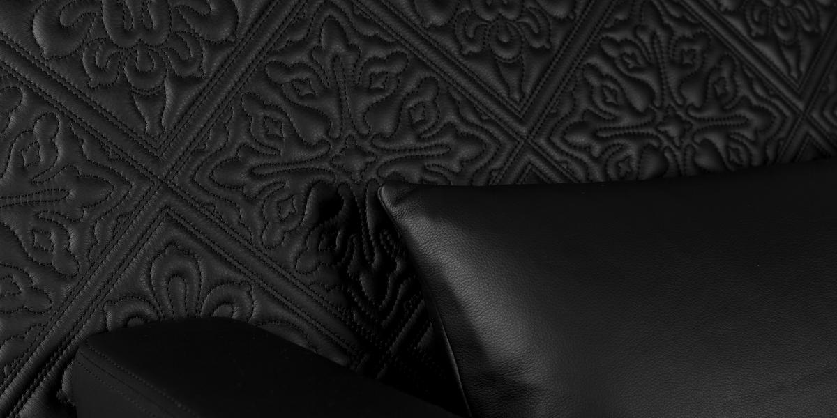Jackson Chair black leather detail 3