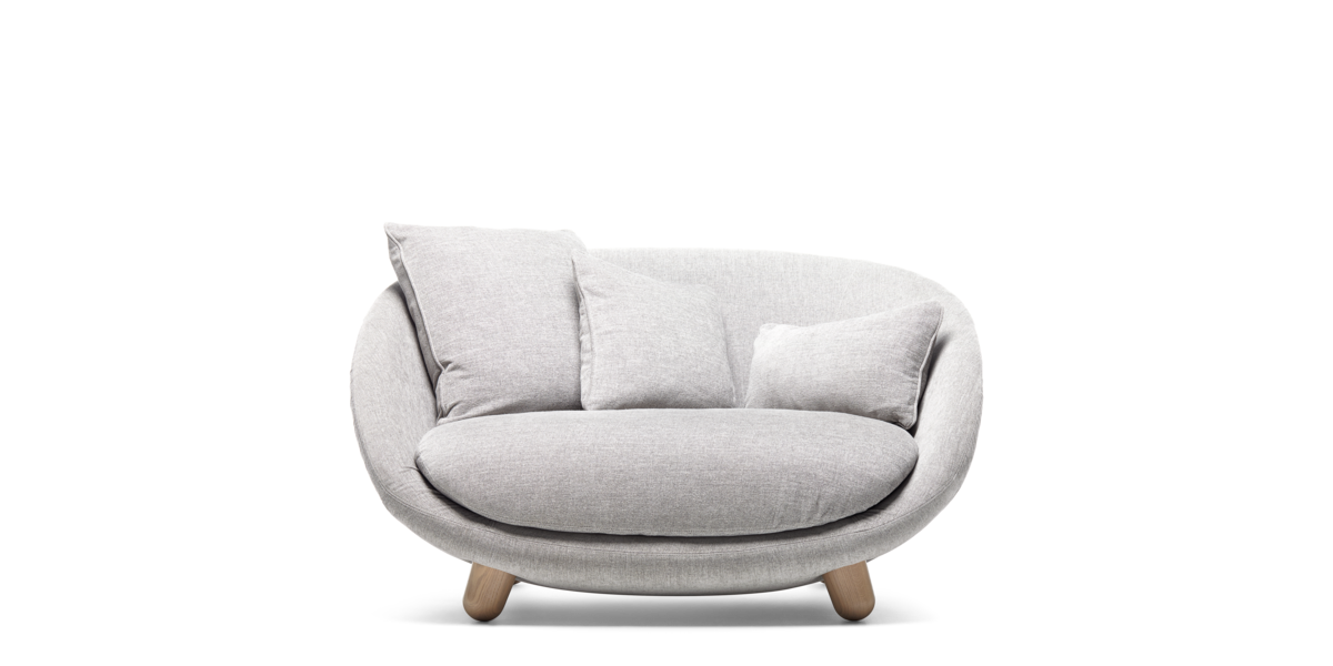 Lofa Sofa light grey front side