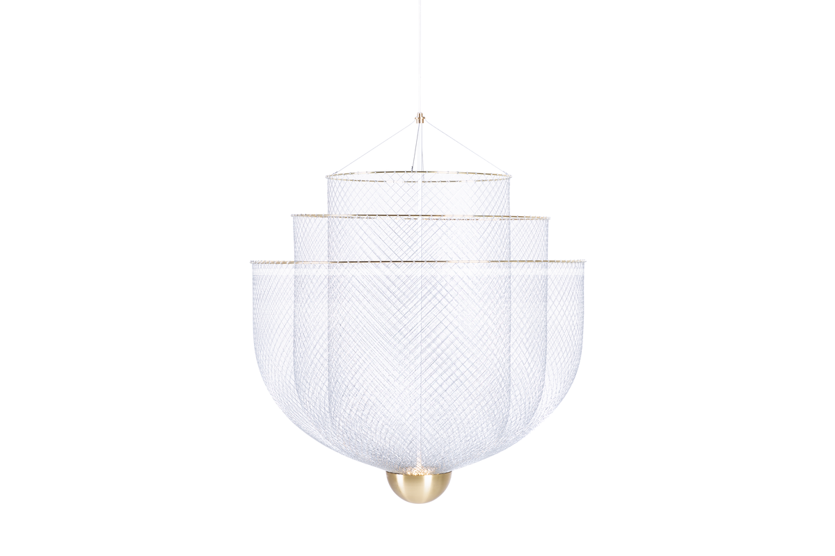 meshmatics chandelier white background sequence