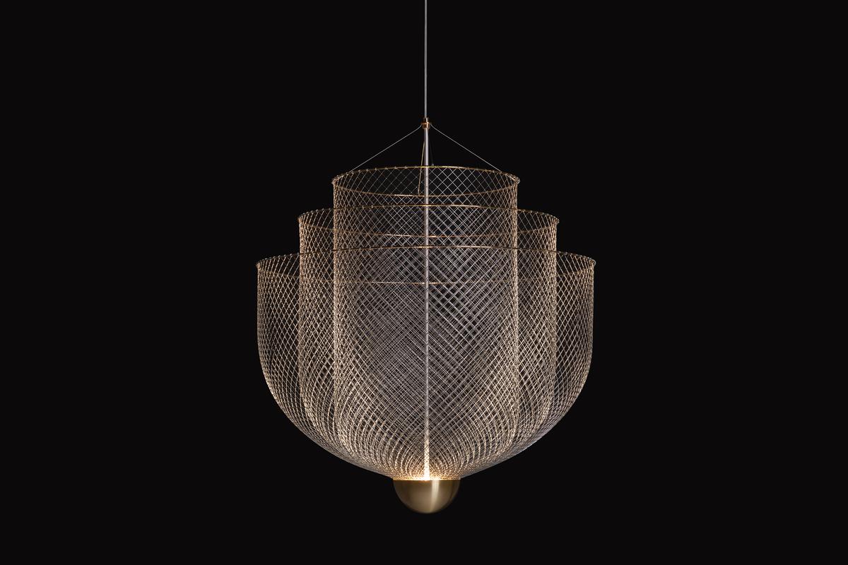 meshmatics chandelier black background sequence