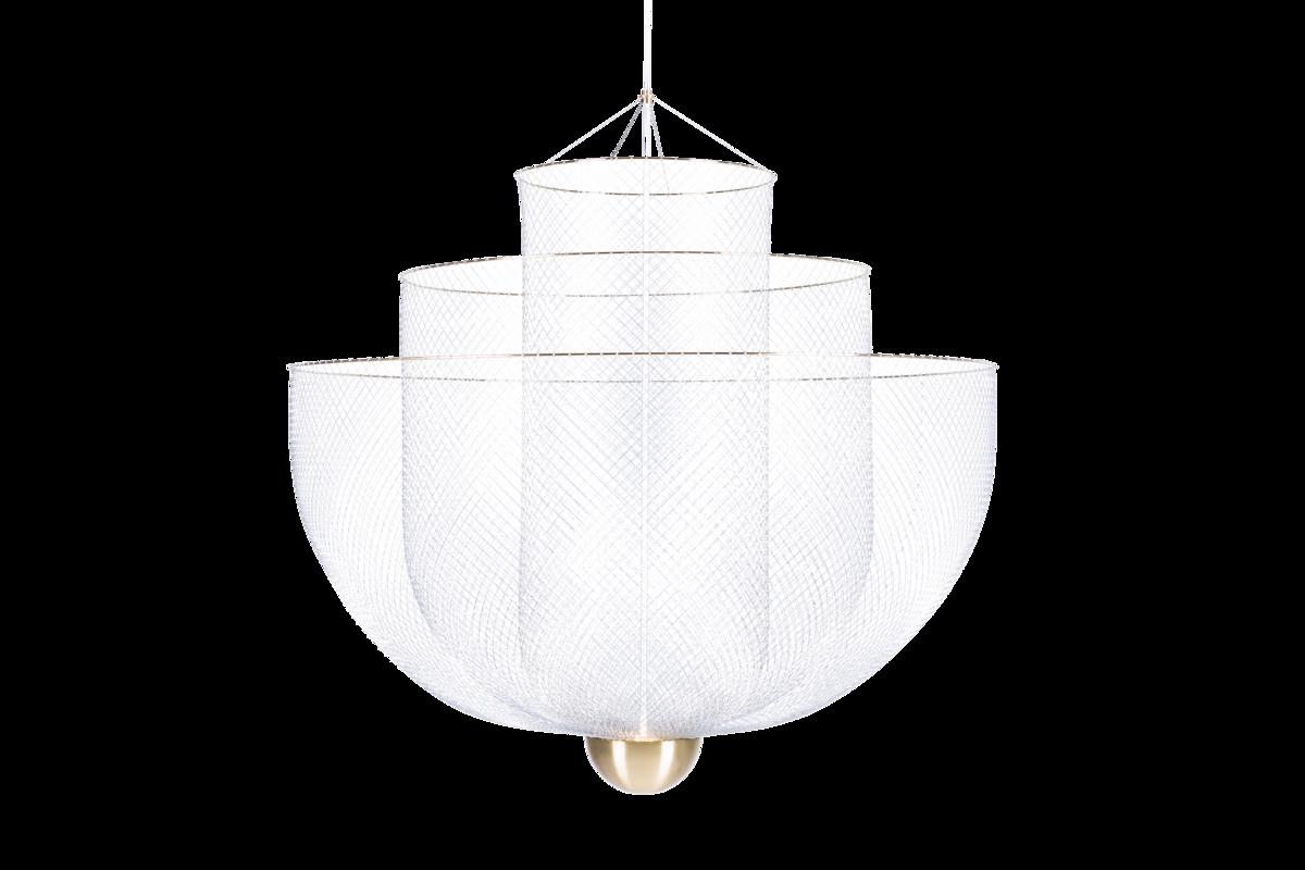 Meshmatics chandelier front view