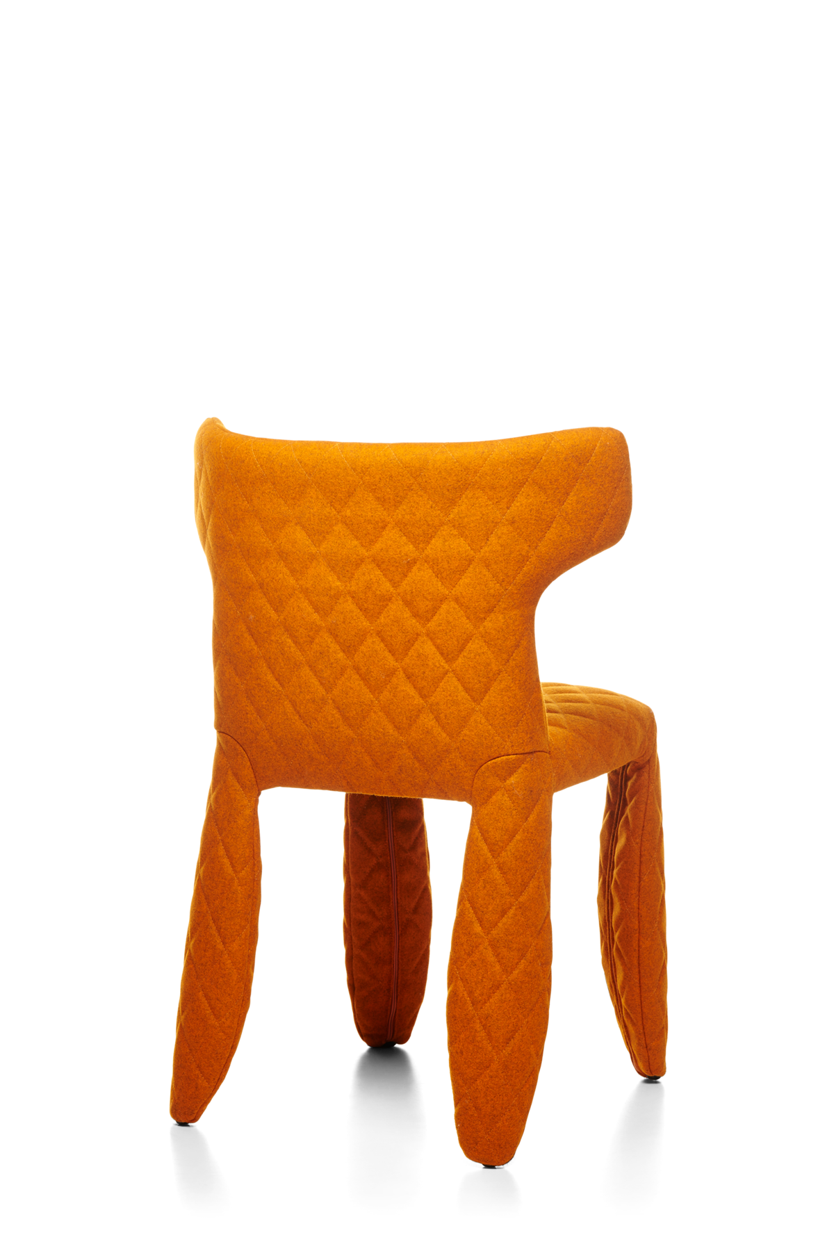 Monster Chair Divina Melange orange face and arms back view