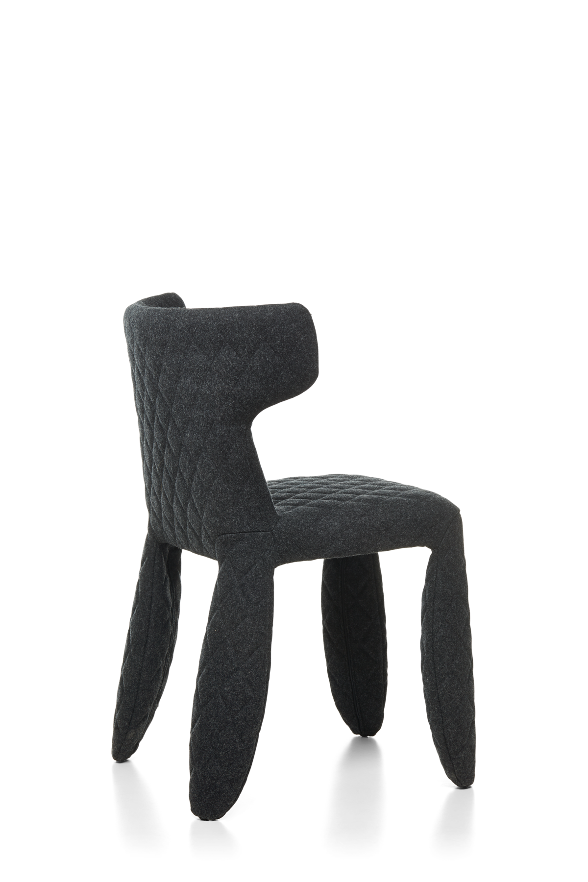 Monster Chair Divina Melange dark grey face and arms black left view