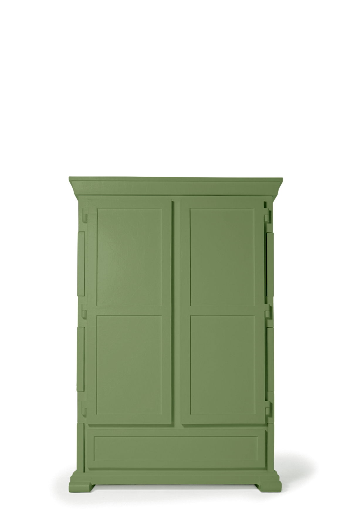 Paper Cupboard RAL 6021 green front view