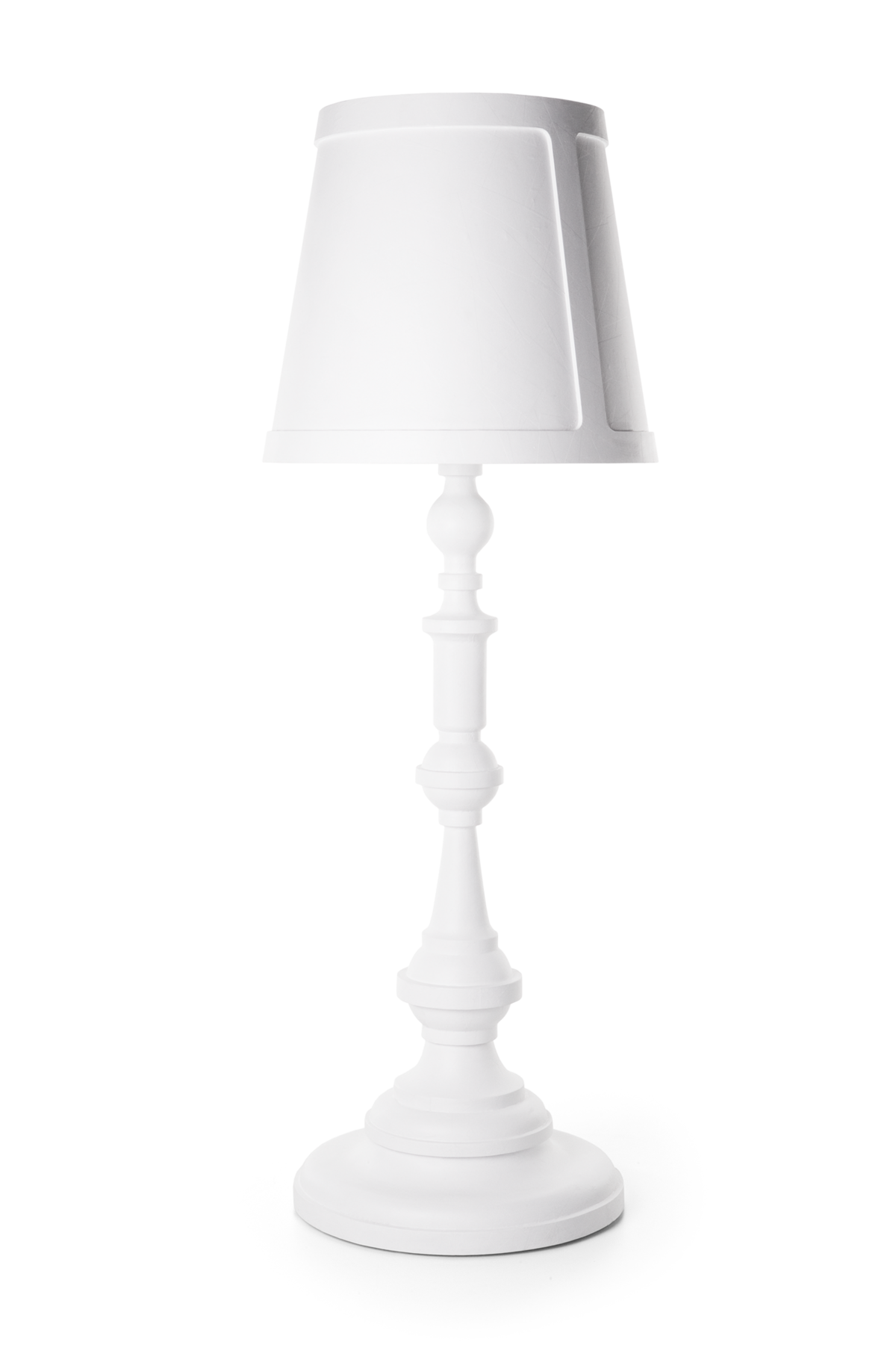 Paper Floor Lamp white front side