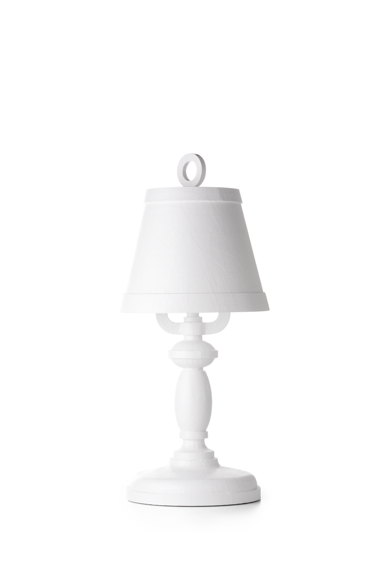 Paper Table Lamp white front side