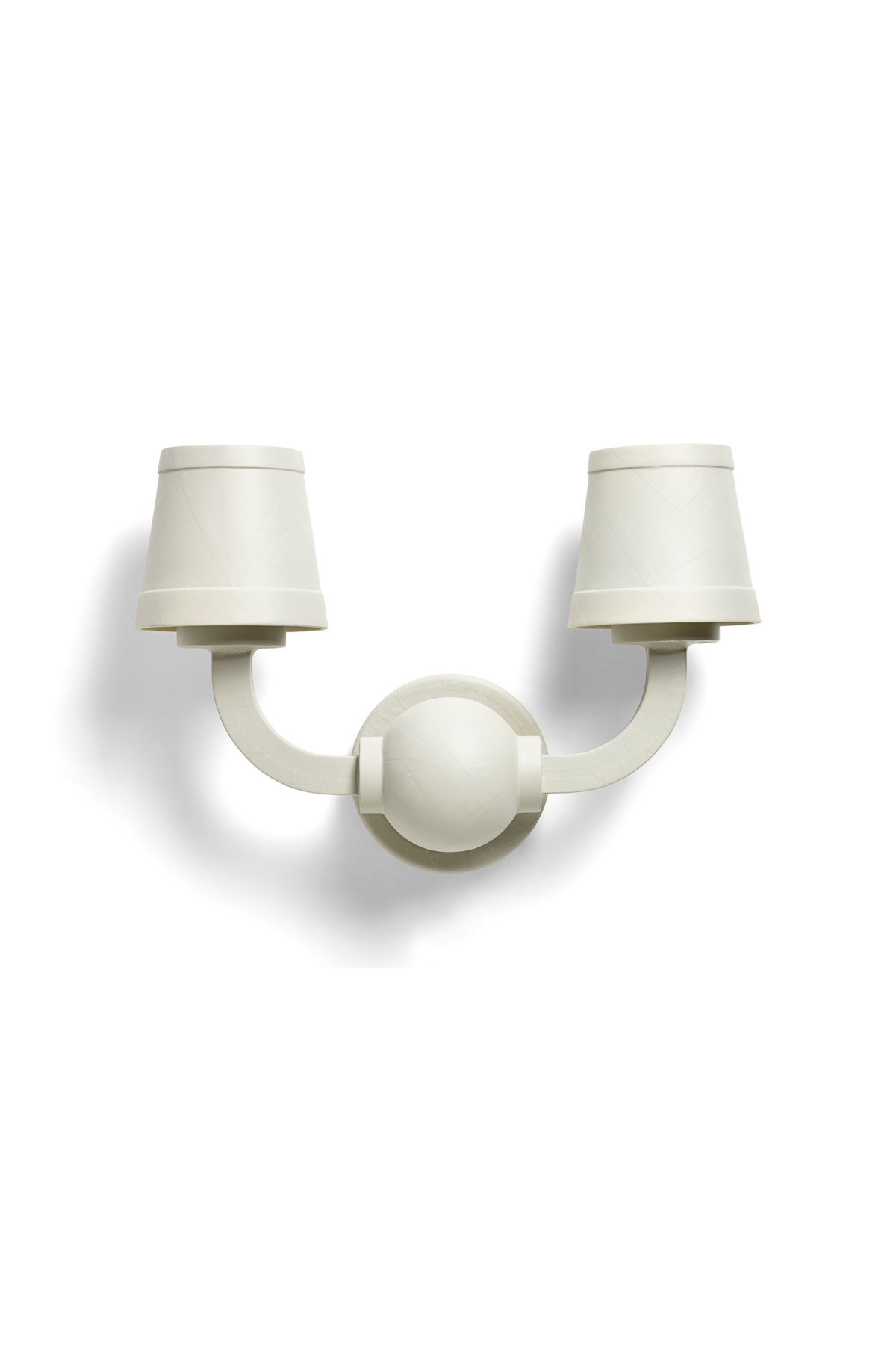 Paper Wall Lamp off-white front side