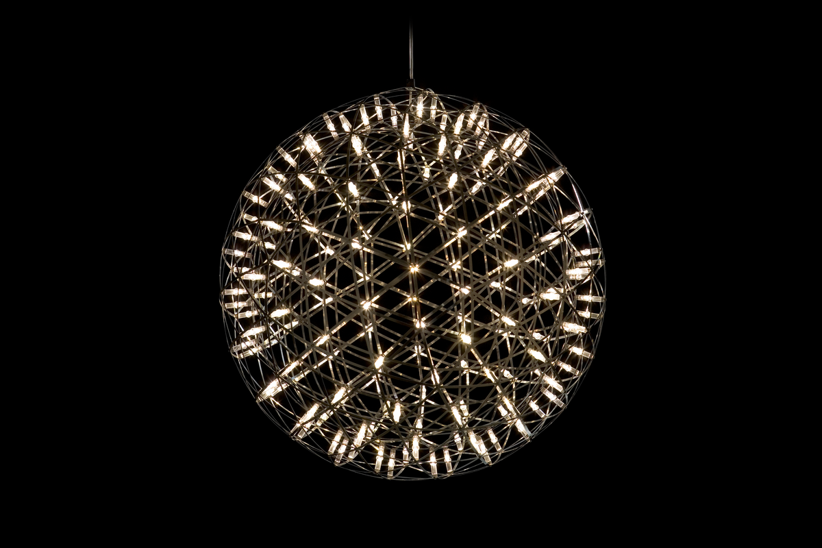 Raimond suspension light 61 on front view with black background