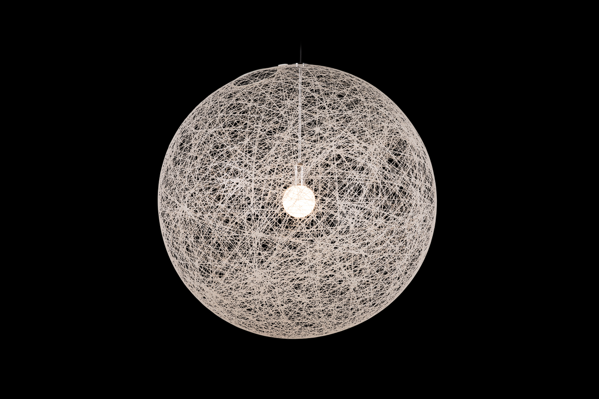 Random Light II suspension medium white on black background
