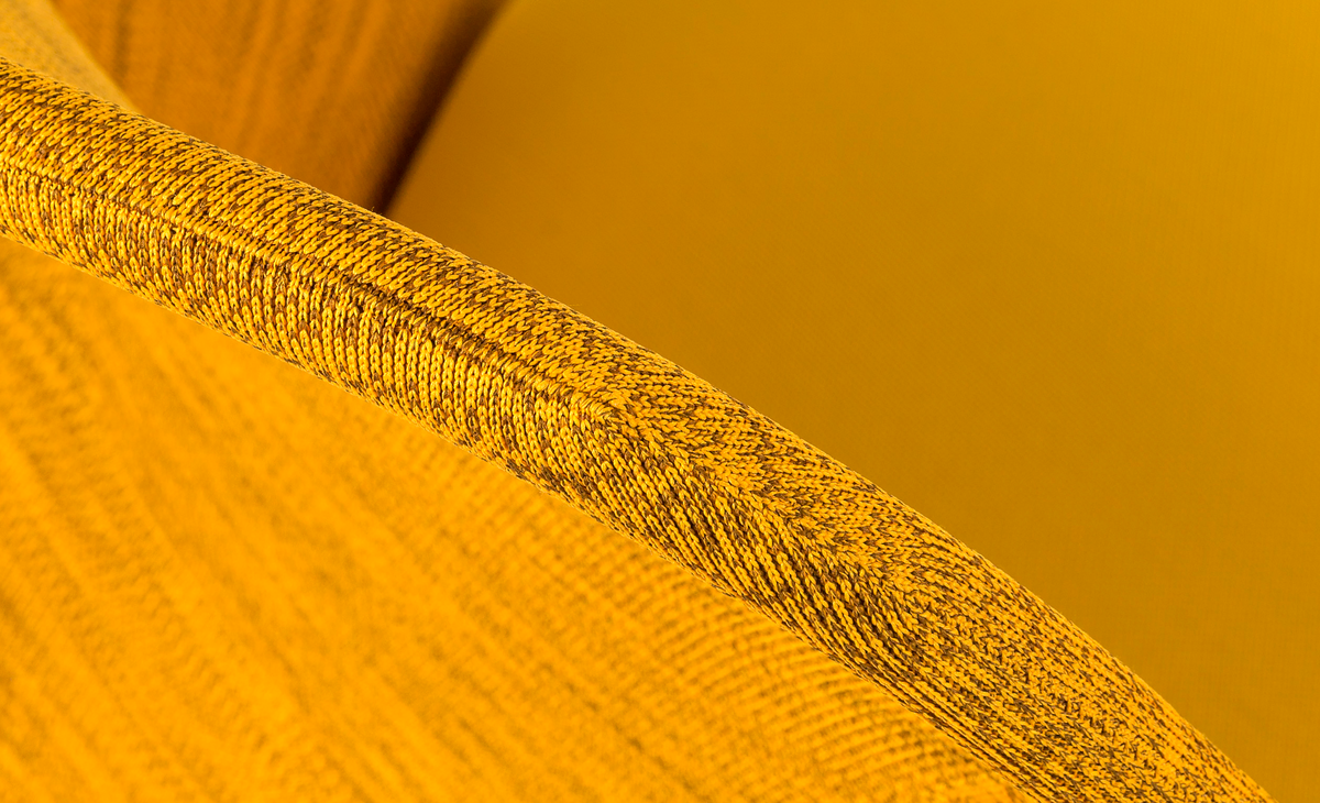 Shift Dining Chair Ochre yellow detail