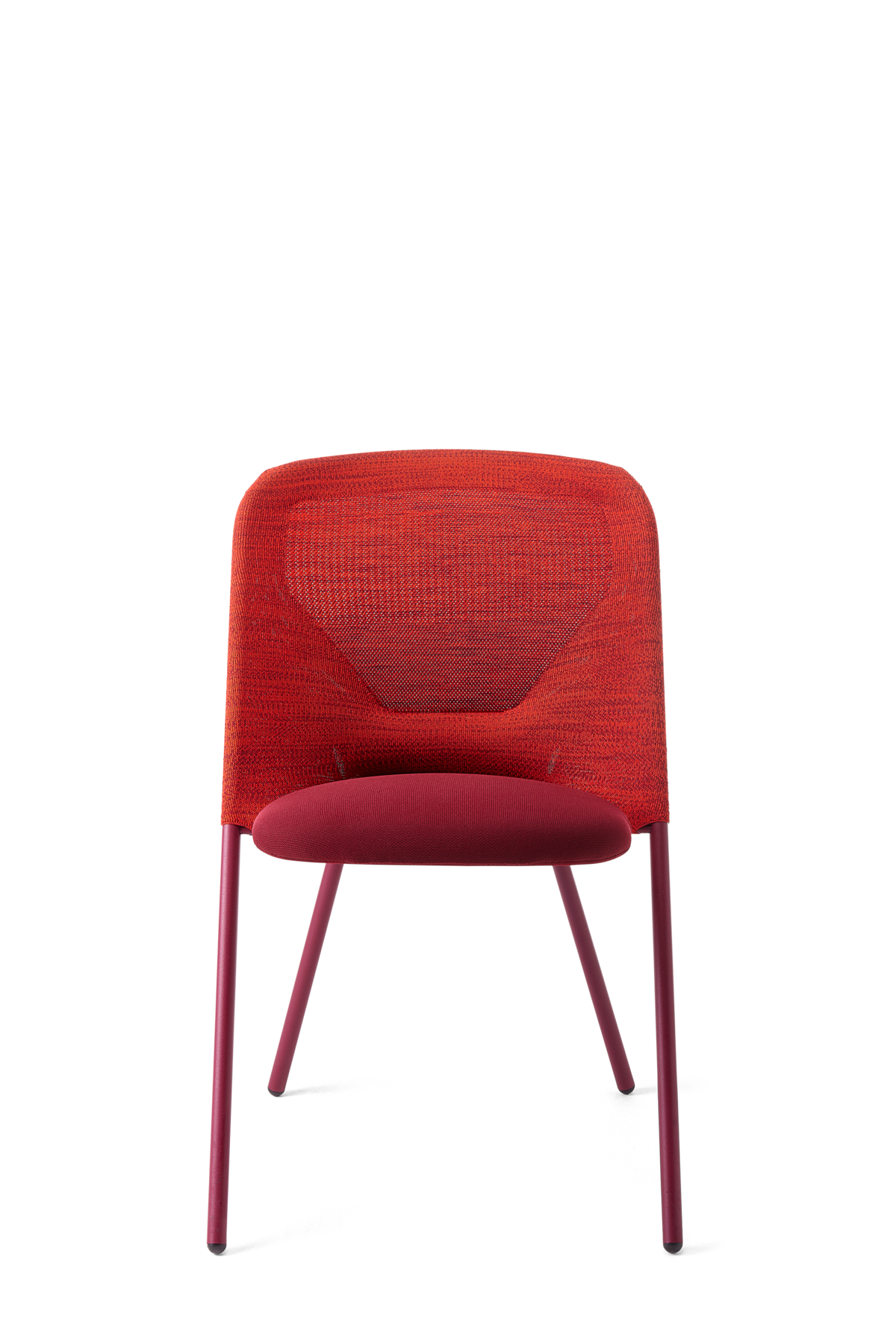 Shift Dining Chair Bright Red front side