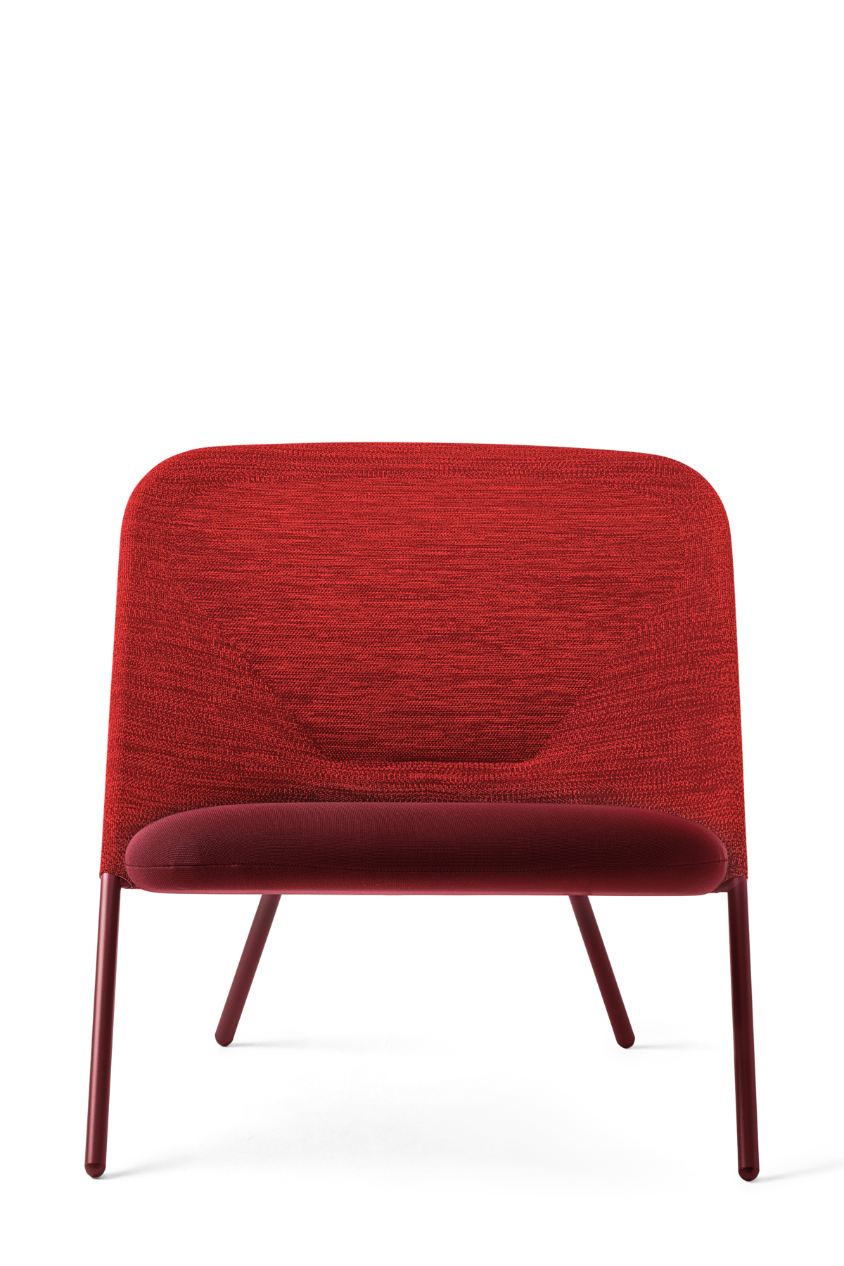 Shift Lounge Chair red front side