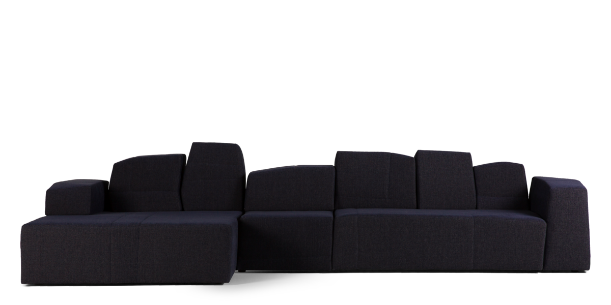 Something Like This Sofa dark blue front view