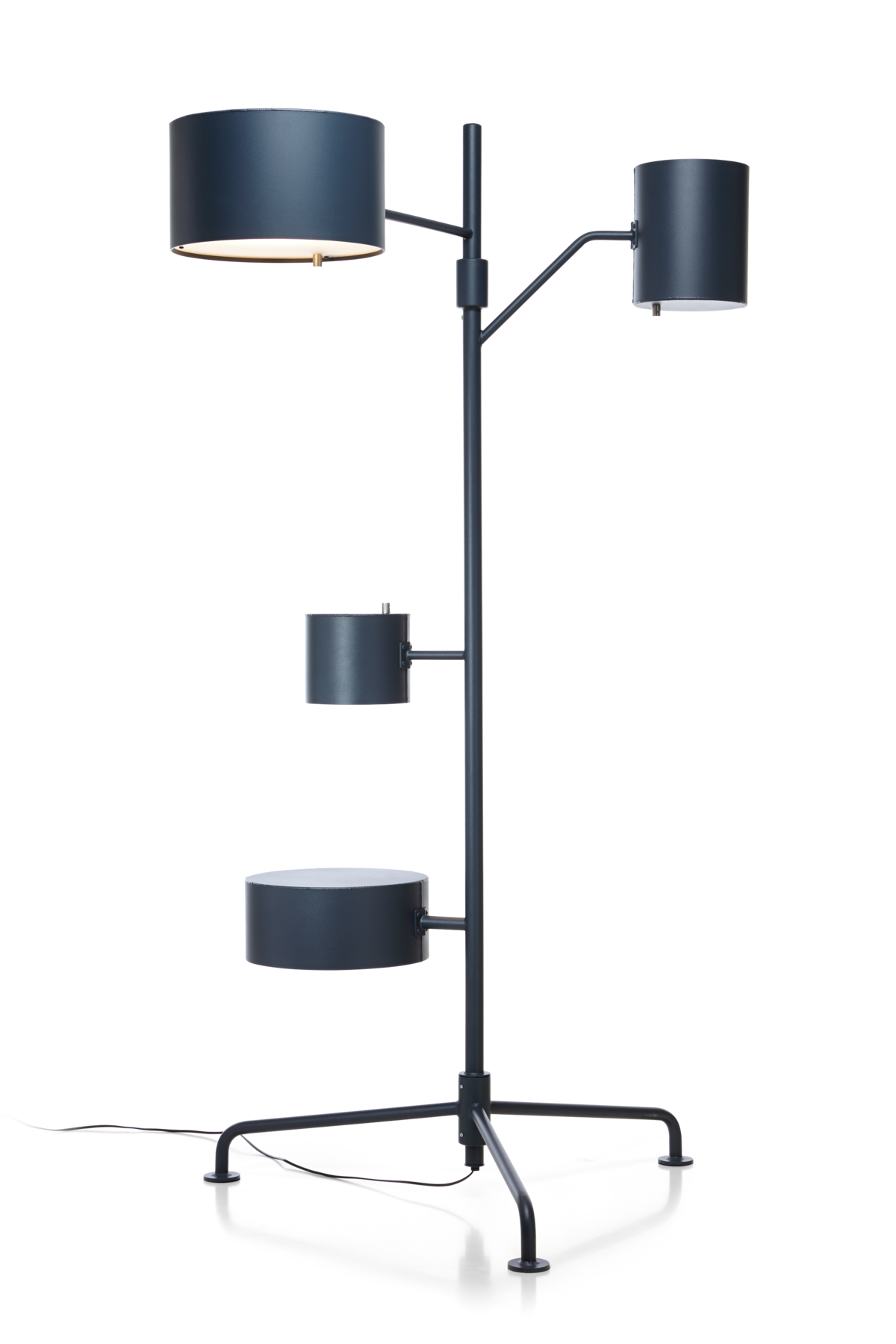 Statistocrat Floor Lamp dark blue front view