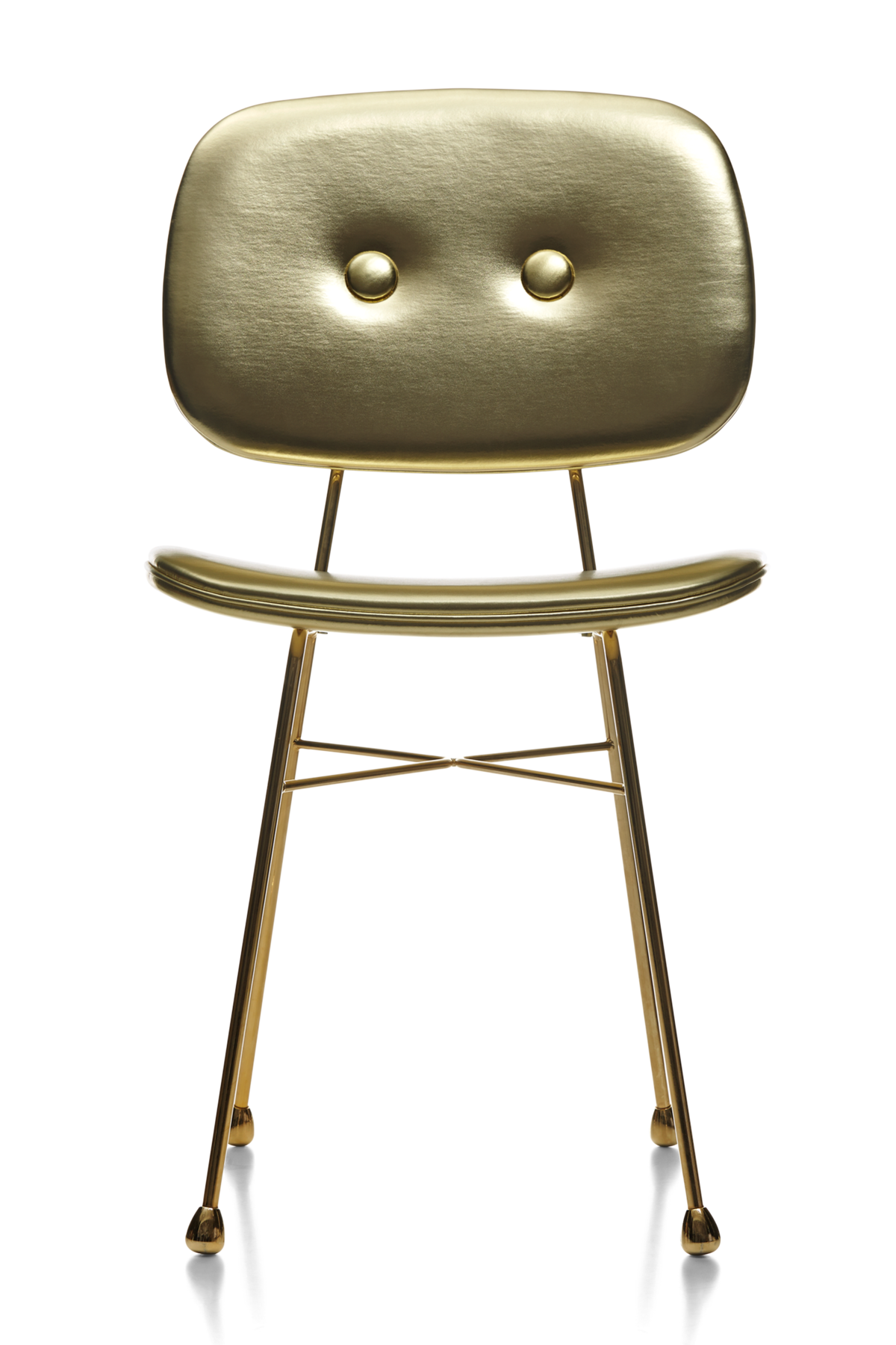 The Golden Chair gold front side