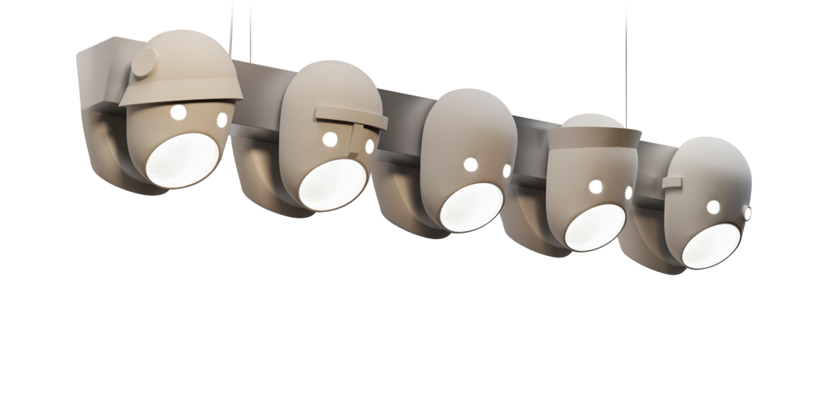 The Party suspension light front view