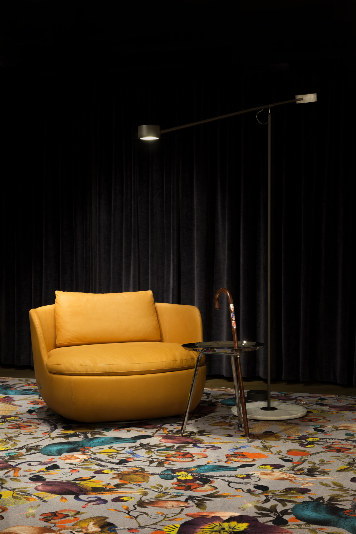 Interior of New York Showroom with Bart Swivel chair and Urbanhike side table