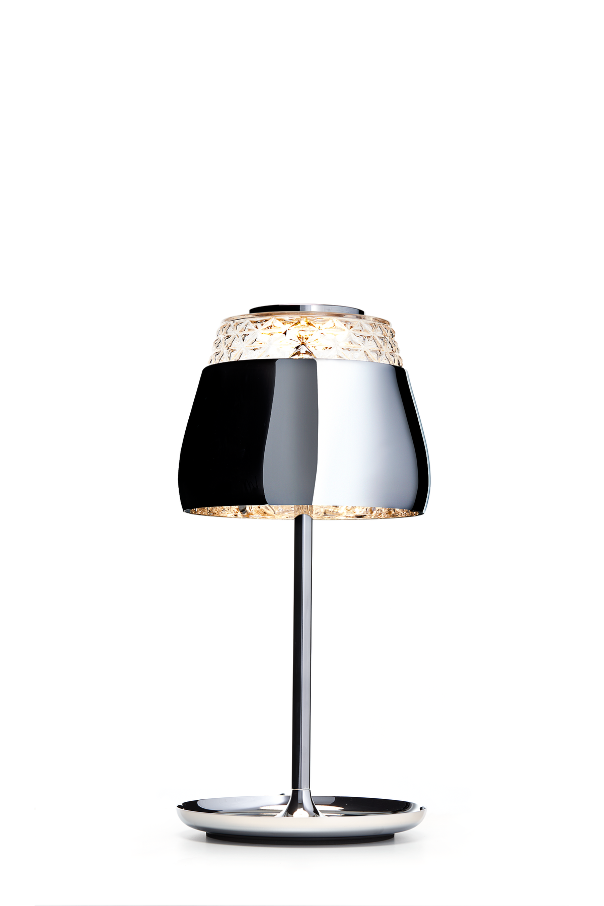 Valentine Table Lamp chrome front view