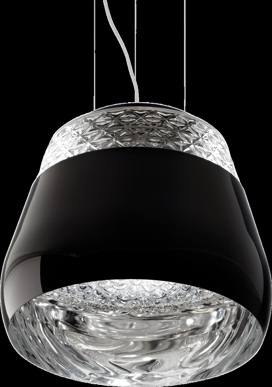 Valentine suspension light black front view
