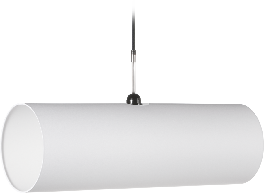 Tube suspension light front view