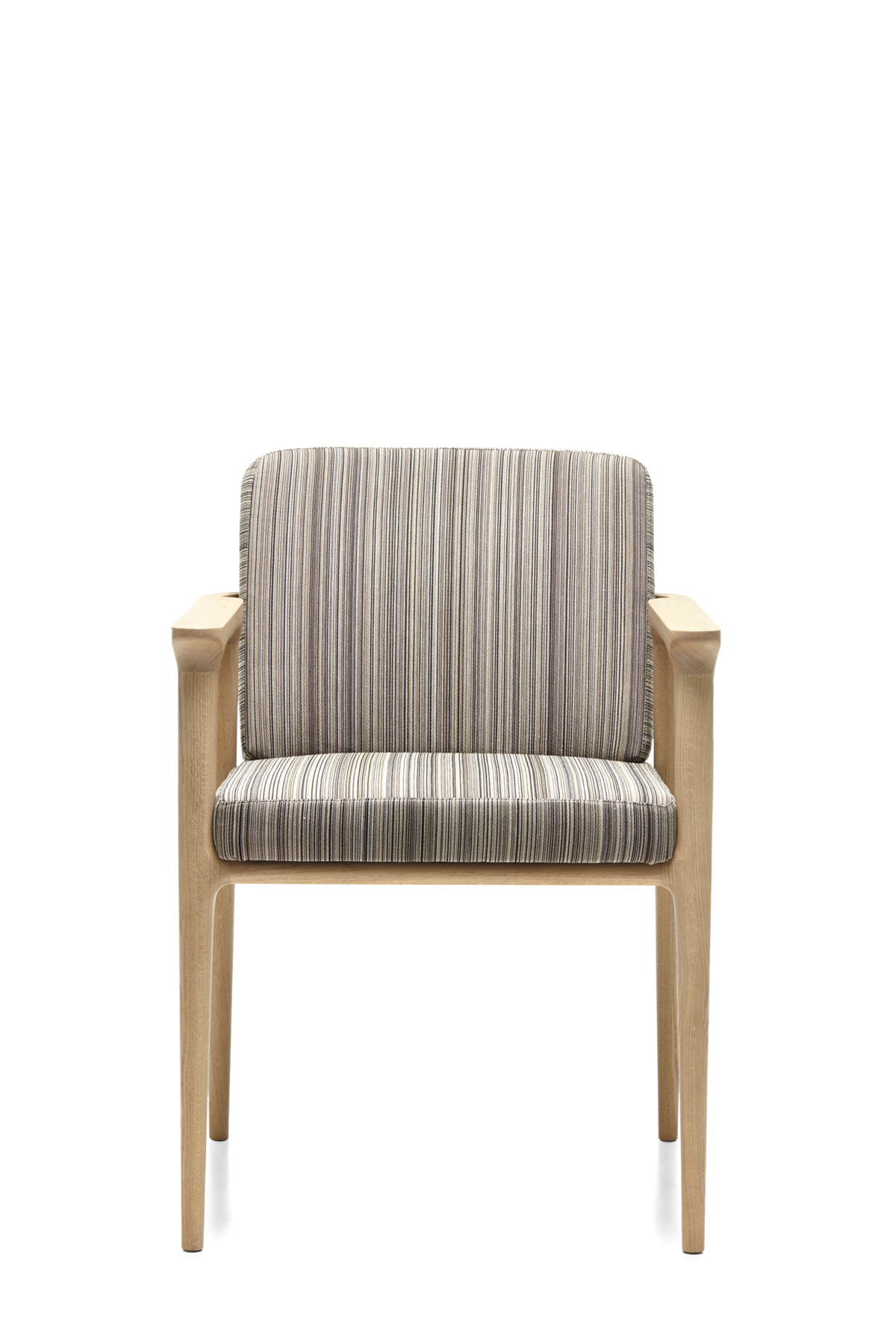 Zio Dining Chair Manga Brown White Wash wood front side